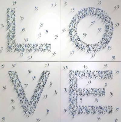 Jane Waterous LOVE Blue Silver