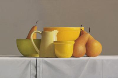 Janet Rickus Bosc Pears and Pottery