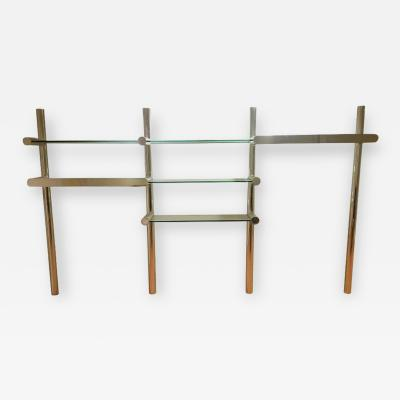 Janet Schwietzer Orba Chrome and Glass Wall Unit by Janet Schwietzer for Pace Collection