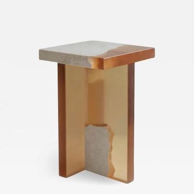 Jang Hea Kyoung Crystal Resin and Marble Fragment Side Table Jang Hea Kyoung