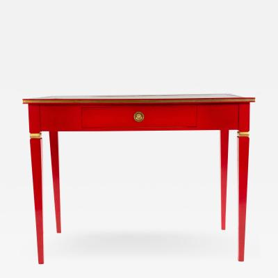 Jansen Red Lacquered Writing Table Desk