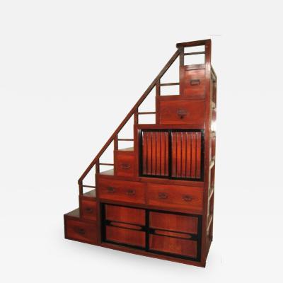 Japanese Antique Keyaki Staircase Tansu