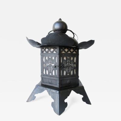 Japanese Antique Large Iron Tsuri doro Hanging Temple Lantern