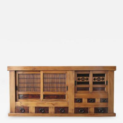 Japanese Antique Single Section Mizuya Kitchen Tansu