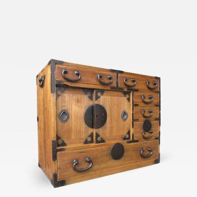 Japanese Antique Small Kiri Wood Tansu