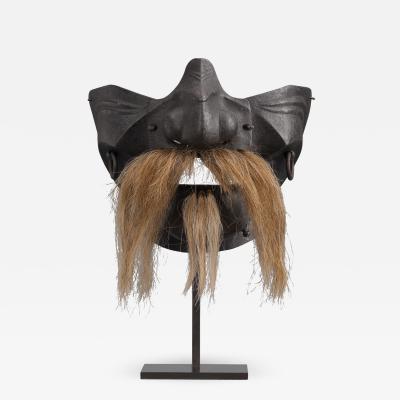Japanese Artist A Japanese Iron Samurai Mask Mempo
