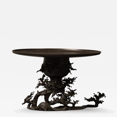 Japanese Bronze Usubata Flower Arranging Vessel