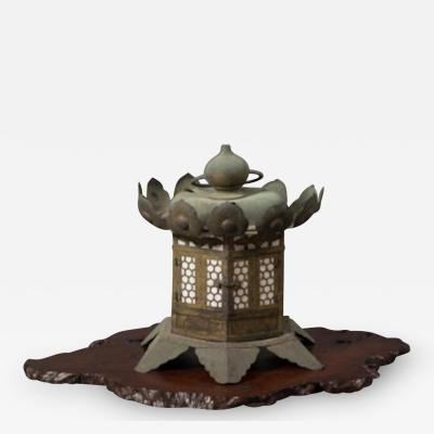 Japanese Gilded Bronze Hanging Garden Lantern