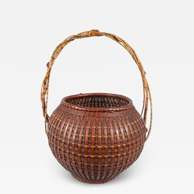 Japanese Ikebana Flower Arranging Basket by Teijo Sai