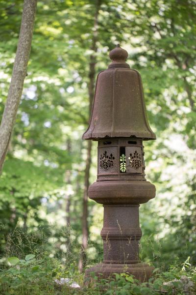 Japanese Iron Lantern Garden Sculpture