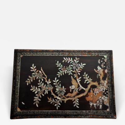 Japanese Lacquerware Box with Mother of Pearl