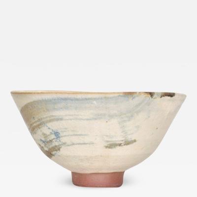 Japanese Modern Art Lovely Donburi Bowl Hand Painted Ceramic