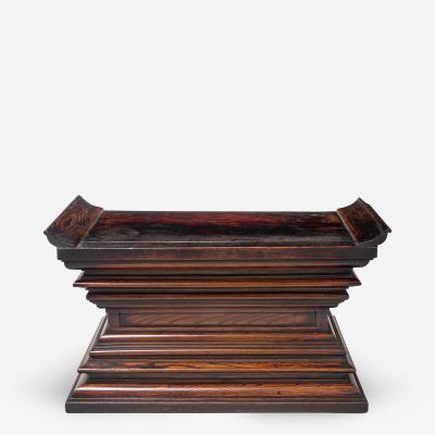 Japanese Pawlonia and Keyaki Wood Altar Plinth