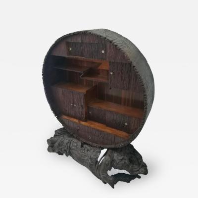 Japanese Round Display Cabinet Meiji Period