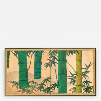 Japanese Screen Bamboo Grove on Mulberry Paper