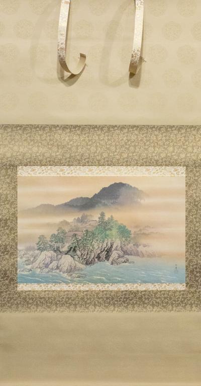 Japanese Scroll Chikubu Shima Chikubu Island