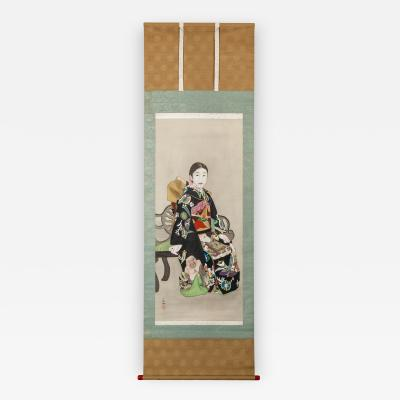 Japanese Scroll Young Girl