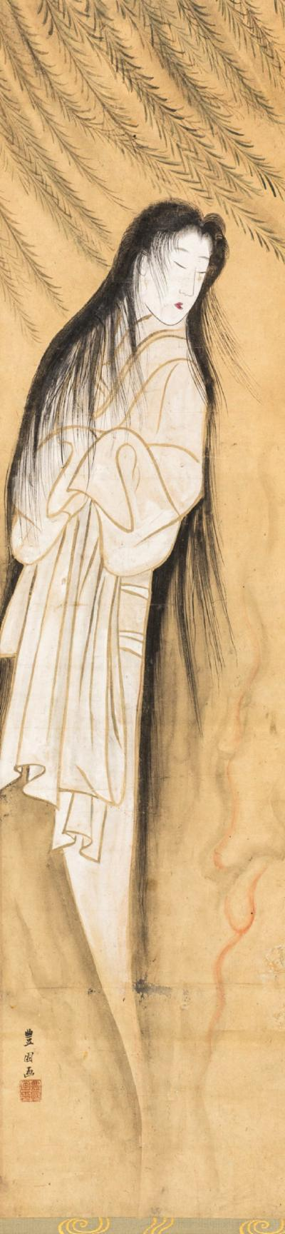 Japanese Scroll of the Spirit of a Beautiful Woman