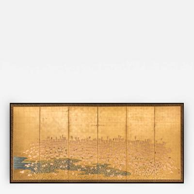Japanese Six Panel Screen Field of Wheat by Rivers Edge