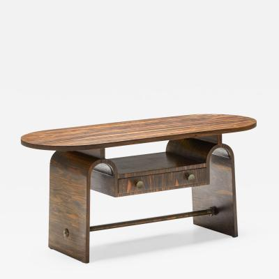 Japanese Style Rosewood Side Table 1950s