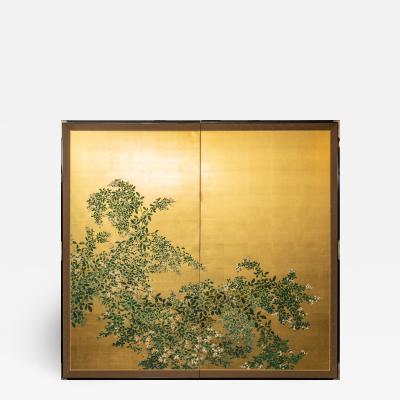 Japanese Two Panel Screen Flowering Hedge Japanese Privet