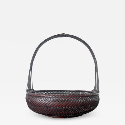 Japanese Woven Bamboo Ikebana Basket Morikago