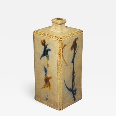 Japanese pottery bottle