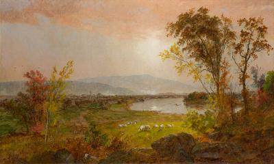 Jasper Francis Cropsey A Bend in the River 1892