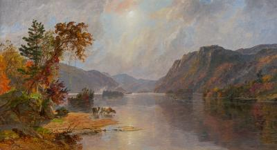 Jasper Francis Cropsey In the Narrows of Lake George 1887