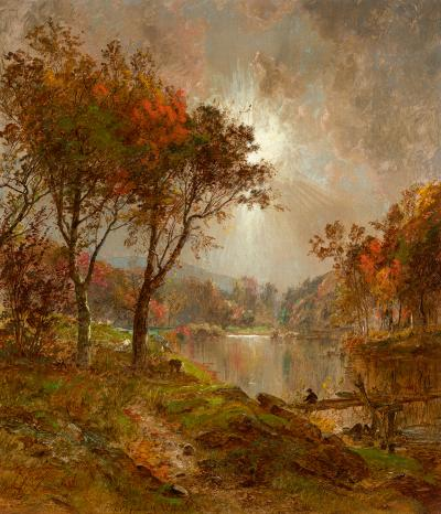 Jasper Francis Cropsey On the Ramapo River