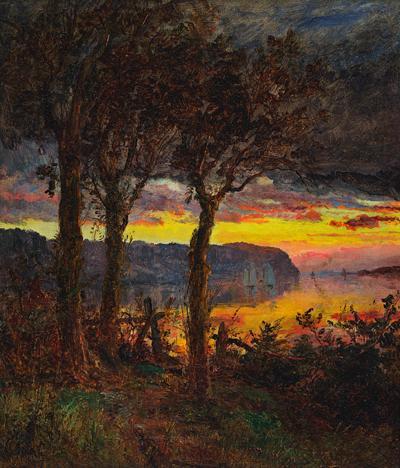 Jasper Francis Cropsey Palisades Opposite Hastings on Hudson 1887