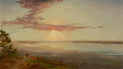 Jasper Francis Cropsey Sunset on a River Inlet 1870