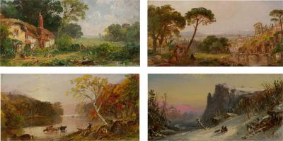 Jasper Francis Cropsey The Four Seasons 1859 1861