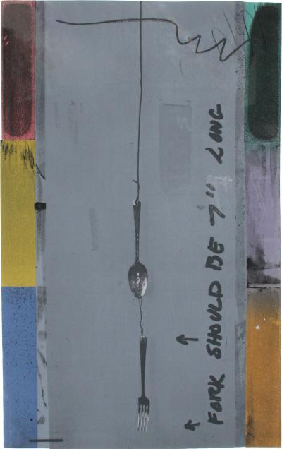Jasper Johns Screen Piece Fork