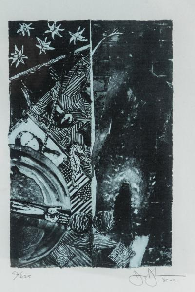 Jasper Johns Summer Blue Lithograph by Jasper Johns