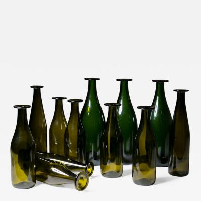 Jasper Morrison Set of 11 Green Glass Bottles by Jasper Morrison for Cappellini