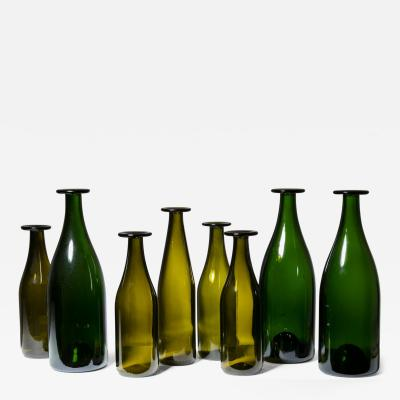 Jasper Morrison Set of 8 Green Glass Bottles by Jasper Morrison for Cappellini