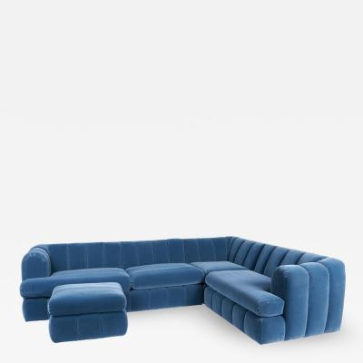 Jay Spectre Jay Spectre Channeled Sectional Sofa