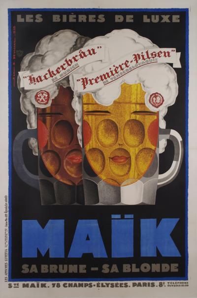 Jean Adrien Mercier Original French Art Deco Period Poster by Jean Mercier 1929