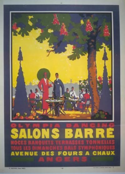 Jean Adrien Mercier Salons Barre a French Art Deco Period Poster by Jean A Mercier 1925