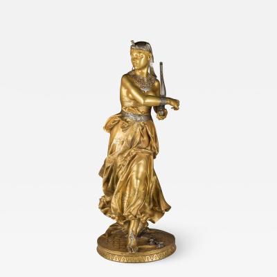 Jean Alexandre Joseph Falguiere A Fine Quality Gilt Bronze Figure of an Egyptian Dancer
