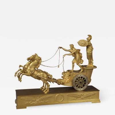 Jean Andr Reiche An Empire Clock Depicting Minerva