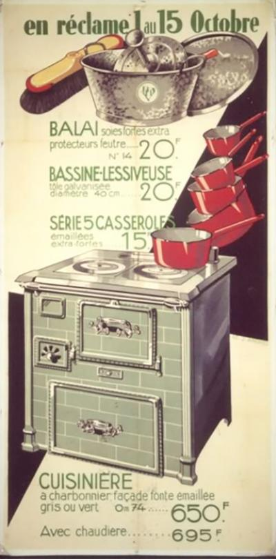 Jean Andres French Art Deco Period Kitchen Equipment Poster by Jean Andres circa 1930