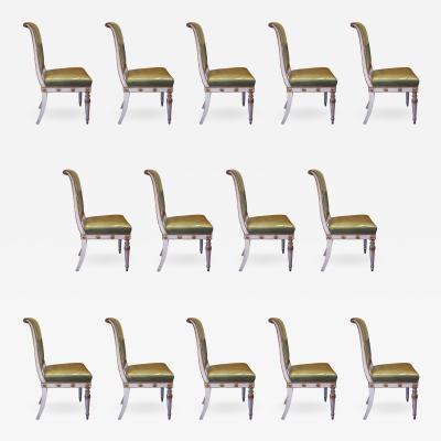 Jean Baptiste Boulard Antique Hollywood Regency Dining Chairs after Jean Baptiste Boulard