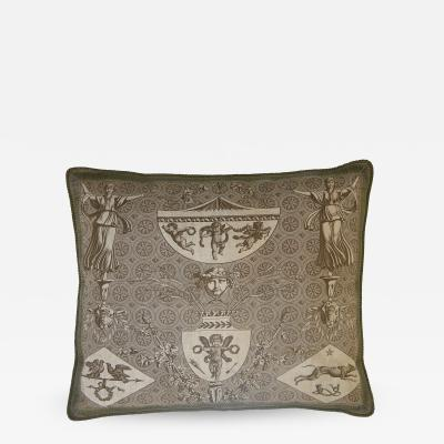 Jean Baptiste Marie Huet French Tapestry Pillow Printed by Oberkampf 1760 1843