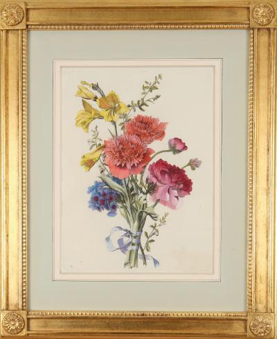 Jean Baptiste Monnoyer Jean Baptiste Monnoyer hand coloured engravings of flowers 1670 80
