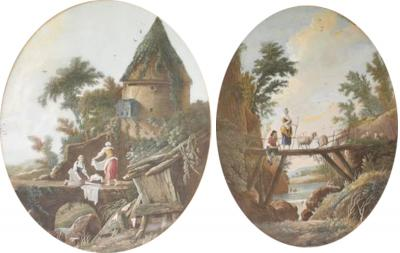 Jean Baptiste Pillement Pair of 18th Century Engravings By Pillement