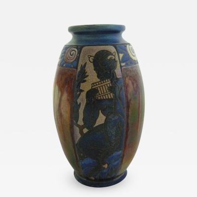 Jean Barol Rare Luster Glaze Vase of Pan by Jean Barol