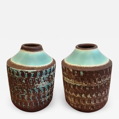 Jean Besnard Jean Besnard Art Deco Pair of Ceramic Vase circa 1930