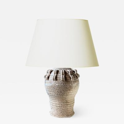 Jean Besnard Table lamp with applied looping ornament in the style of Jean Besnard